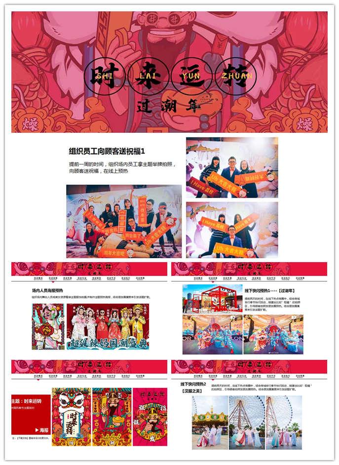 时来运转过潮年春节活动方案,中国风春节主题公司活动派对