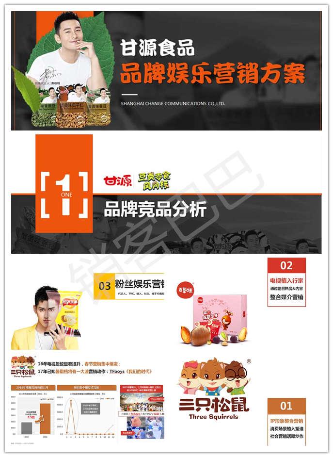 2019甘源食品娱乐营销案例分析,绑定明星联系品牌,提升品牌关注度