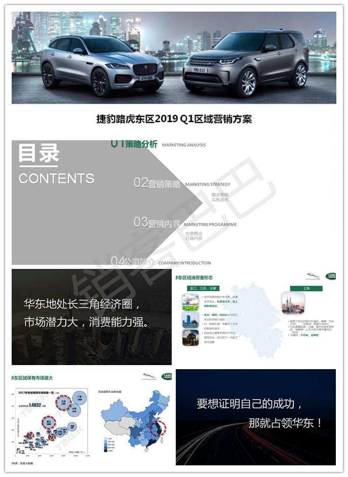 捷豹路虎汽车2019年度品牌营销推广方案,占领华东激活消费者,从而提升销售