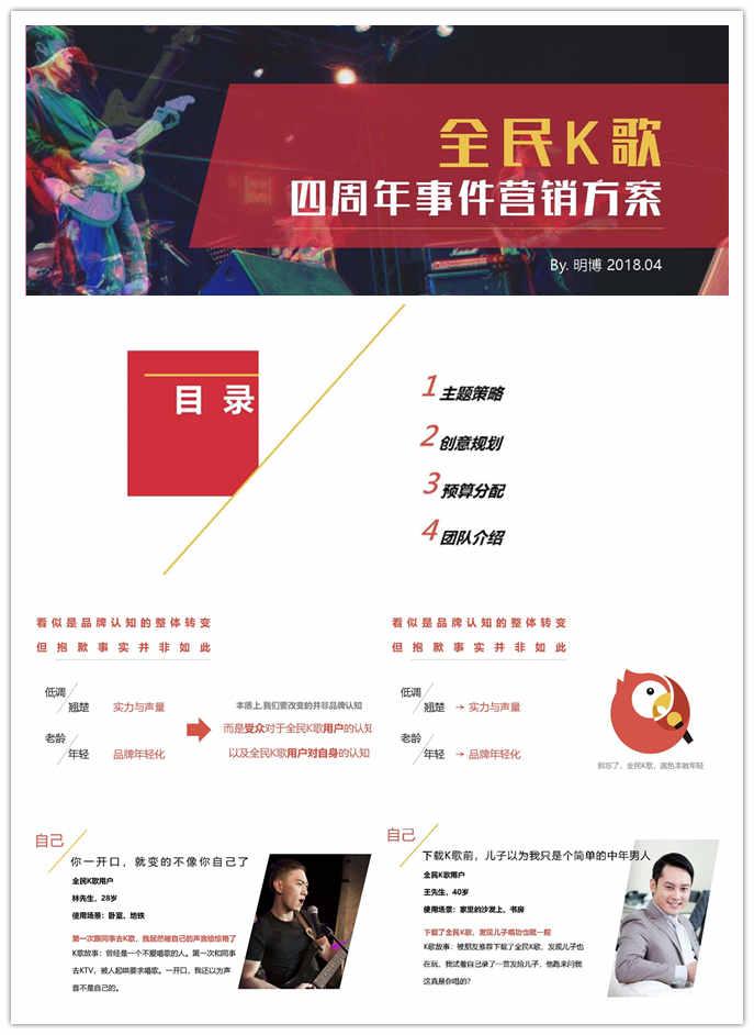 2018年全民K歌四周年庆活动方案,展示K歌潮酷、年轻、活动的形象