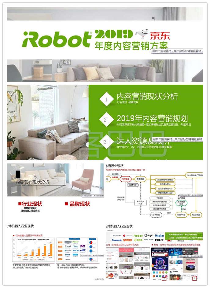 2019iRobot扫地机器人年度内容营销策划方案模板,品牌行业现状分析
